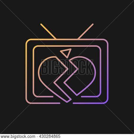 Soap Opera Gradient Vector Icon For Dark Theme. Tv Drama Series. Sentival Film With Love Plot. Roman
