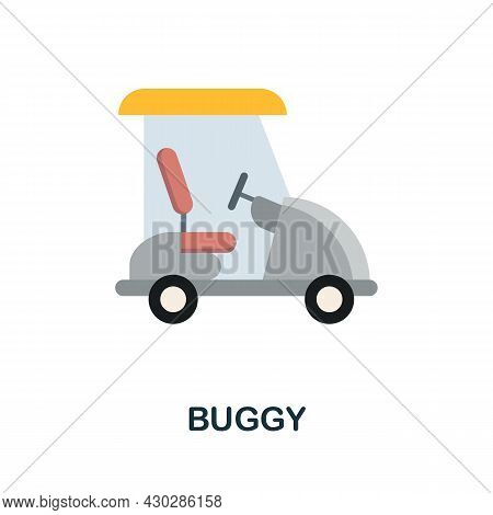 Buggy Flat Icon. Colored Sign From Excursions Collection. Creative Buggy Icon Illustration For Web D