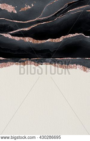 Shimmering dark blue on white paper background