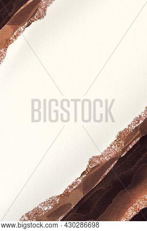 Shimmering dark brown on white paper background