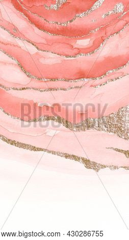 Shimmering pink watercolor brush stoke mobile phone wallpaper