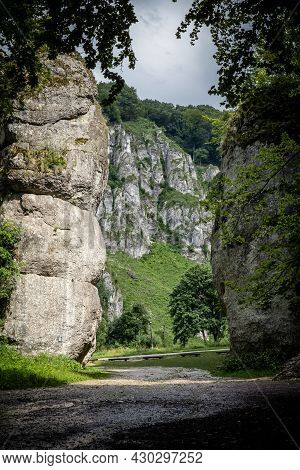 A Picturesque Limestone Rock Formation Called