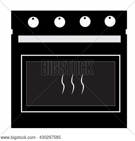 Kitchen Stove Icon On White Background. Oven Sign. Bakery Symbol. Flat Style.