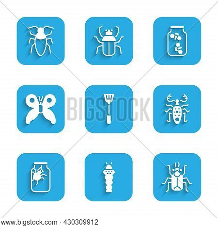 Set Fly Swatter, Larva Insect, Beetle Bug, Deer, Spider Jar, Butterfly, Fireflies Bugs And Cockroach