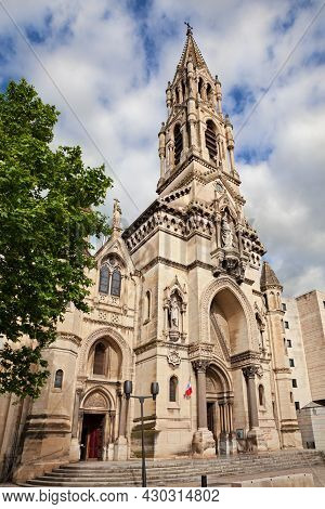 Nimes, Gard, Occitania, France: The Ancient Church Of Sainte Perpetue (1864), Beautiful Monument In