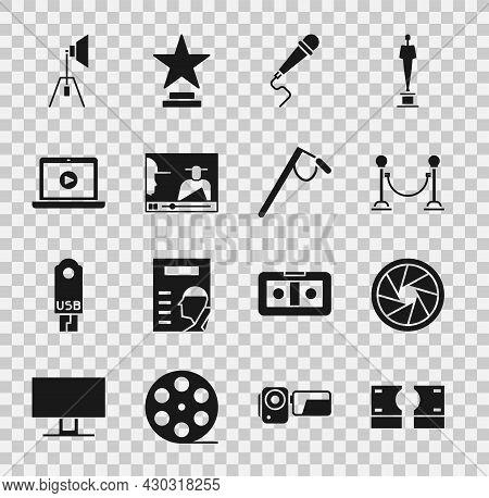 Set Stacks Paper Money Cash, Camera Shutter, Rope Barrier, Microphone, Online Play Video, Movie Spot