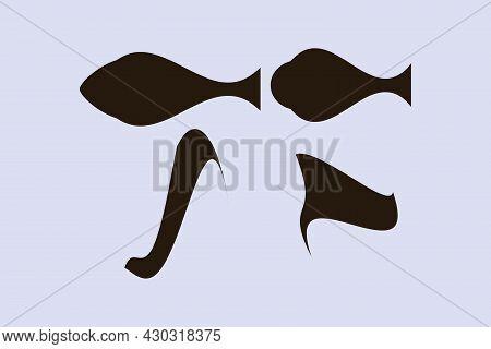 Fine Art Shape Art. Vector Illustration. Shape Art Design