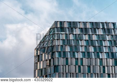 Madrid, Spain - March 7, 2021: New Office Building In Paseo De La Castellana In The Downtown Of Madr