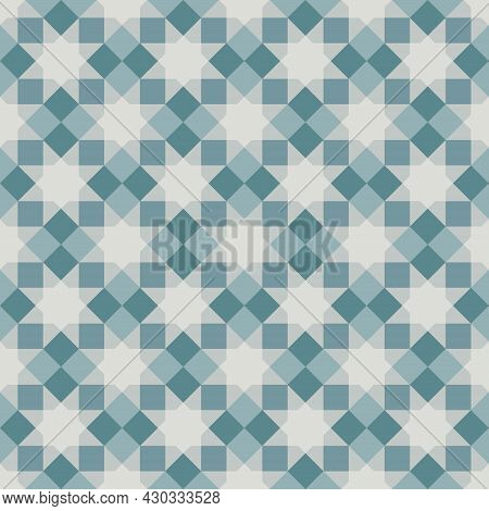 Octagram Shape Background With Alternating Square. Arrange Them In A Grid. Seamless Abstract Geometr
