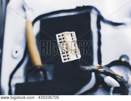 Male Connector Socket 18 Pin In The Car For Electronics Connection