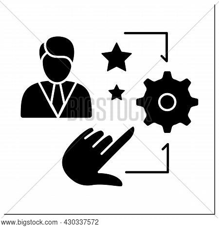 Talent Management Glyph Icon. Hr Processes To Attract, Motivate, And Retain High-performing Employee