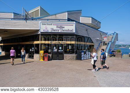 Halifax, Canada - 10 August 2021: Halifax Transit Ferry Terminal