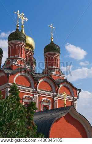 Cupolas Of Ancient Cathedral Of The Znamensky Male Monastery, Church Of Icon Of The Mother Of God Of