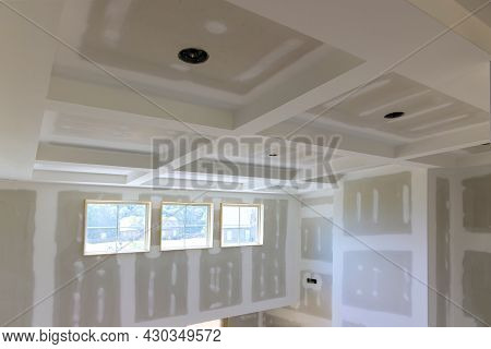 Finish Details A New Home Before Installing With Under Construction Building Interior Drywall Tape