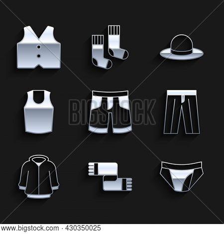 Set Short Or Pants, Winter Scarf, Men Underpants, Pants, Hoodie, Undershirt, Man Hat And Waistcoat I