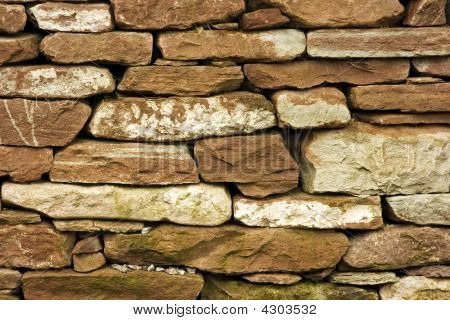 Dry Stone Wall Or Dyke