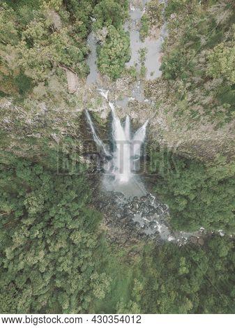 Ellenborough Falls Beautiful Waterfall Landscape Nsw Australia.