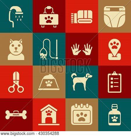 Set Dog Medicine Bottle, Grooming Salon Price List, Location Pet Grooming, Towel Stack, Pet Toy, Cat