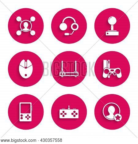 Set Router And Wi-fi Signal, Gamepad, Premium Create Account Screen, Console With Joystick, Portable
