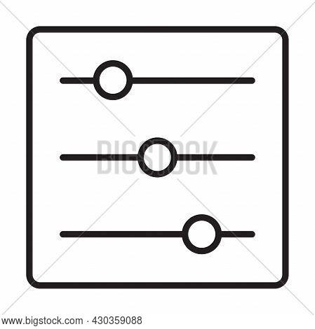 Adjustment Icon Vector For Graphic Design, Logo, Website, Social Media, Mobile App, Ui