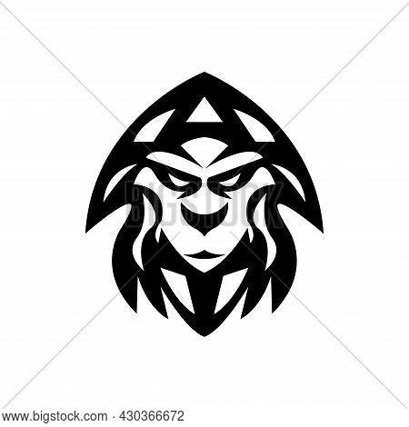 Black Ape Face Vector Illustration, Great For Pet Shop Icon