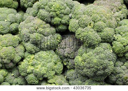 Fresh broccoli at the market