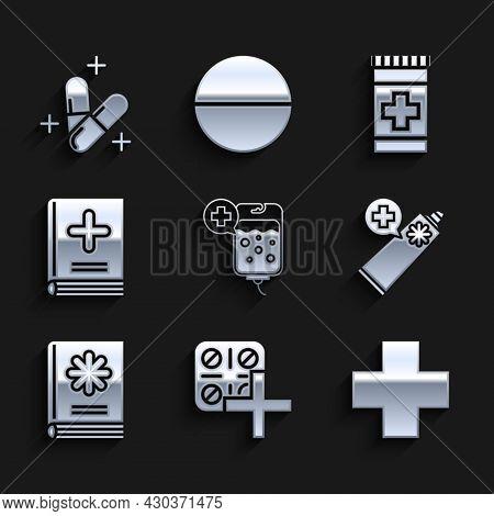Set Iv Bag, Pills In Blister Pack, Cross Hospital Medical, Ointment Cream Tube Medicine, Medical Boo