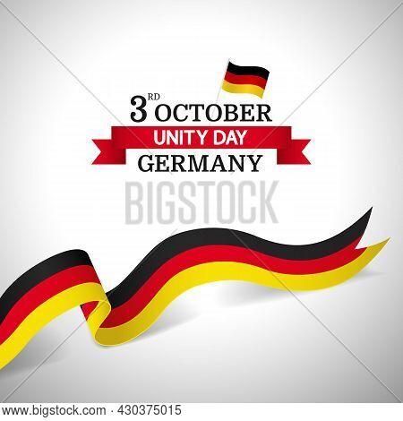 Vector Illustration Ofn The Theme German Unity Day