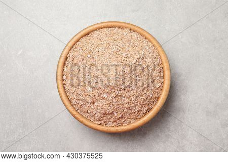 Wheat Bran On Light Table, Top View