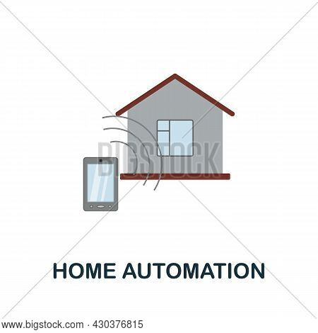 Home Automation Flat Icon. Colored Sign From Home Security Collection. Creative Home Automation Icon