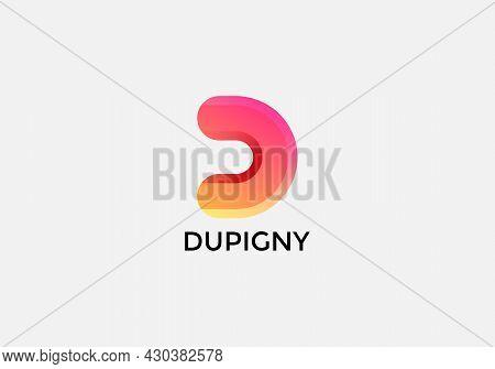Dupigny Abstract D Letter Modern Initial Wordmarks Logo Design