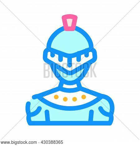 Knight Fantasy Character Color Icon Vector. Knight Fantasy Character Sign. Isolated Symbol Illustrat