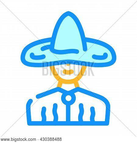 Wizard Fantasy Character Color Icon Vector. Wizard Fantasy Character Sign. Isolated Symbol Illustrat