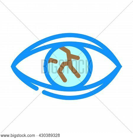 Lens Injury Ophthalmology Color Icon Vector. Lens Injury Ophthalmology Sign. Isolated Symbol Illustr