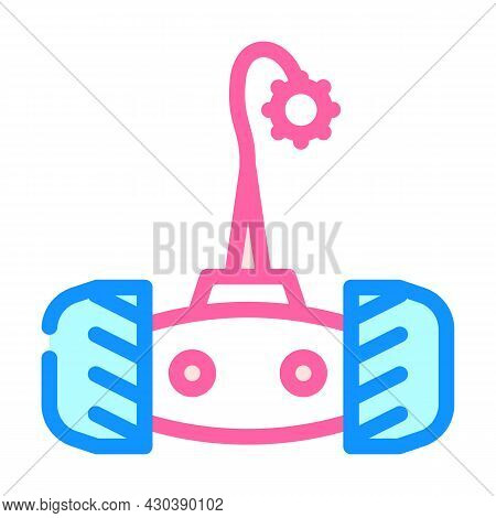 Electronic Pet Toy On Wheel Color Icon Vector. Electronic Pet Toy On Wheel Sign. Isolated Symbol Ill