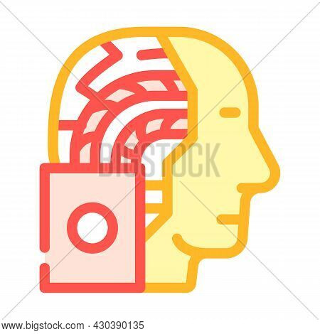 Artificial Intelligence Robot Color Icon Vector. Artificial Intelligence Robot Sign. Isolated Symbol