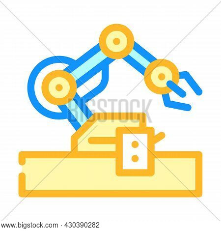 Robotic Arm Robot Color Icon Vector. Robotic Arm Robot Sign. Isolated Symbol Illustration