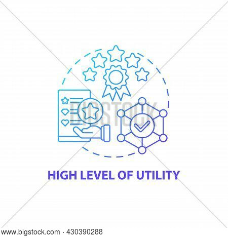 High Utility Level Concept Icon. Product Usage Abstract Idea Thin Line Illustration. Design Function