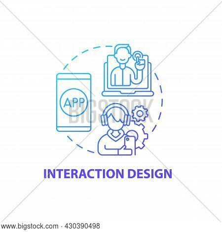 Interaction Design Concept Icon. Ux Design Abstract Idea Thin Line Illustration. Creating Desired Us