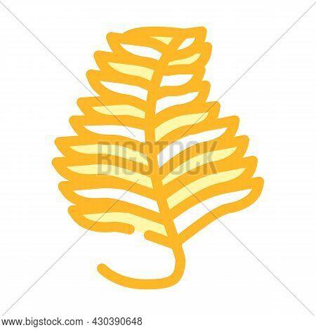 Undaria Plumose Seaweed Color Icon Vector. Undaria Plumose Seaweed Sign. Isolated Symbol Illustratio
