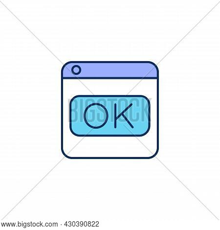 Software Usability Rgb Color Icon. Improving User Acceptance. Design Process. Isolated Vector Illust
