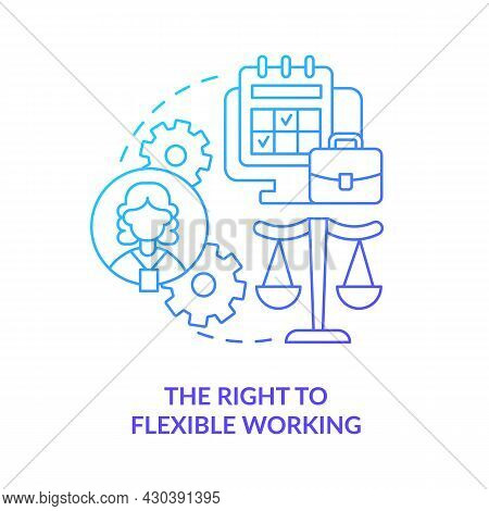Right To Flexible Working Blue Gradient Icon . Return To Work After Parental Leave Abstract Idea Thi