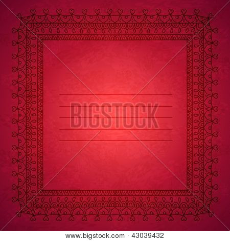 Cover template with ornaments