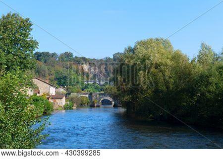River Vienne in French Saint-Leonard-de-Noblat in the Haute-Vienne