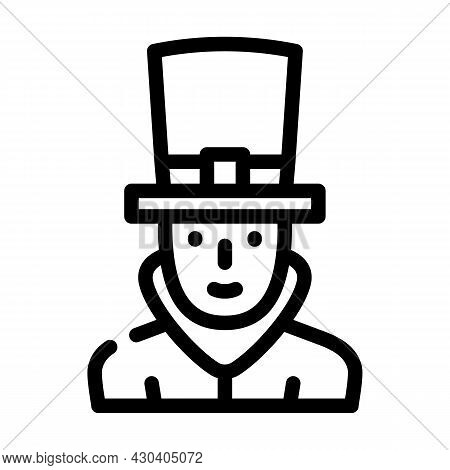 Steampunk Fantasy Character Line Icon Vector. Steampunk Fantasy Character Sign. Isolated Contour Sym