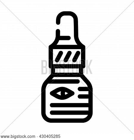 Eye Drops Ophthalmology Line Icon Vector. Eye Drops Ophthalmology Sign. Isolated Contour Symbol Blac