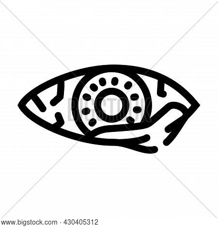 Eye Infection Ophthalmology Line Icon Vector. Eye Infection Ophthalmology Sign. Isolated Contour Sym