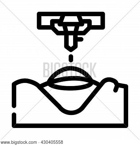 Laser Correction Ophthalmology Line Icon Vector. Laser Correction Ophthalmology Sign. Isolated Conto
