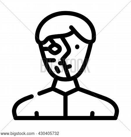 Cyborg Robot Line Icon Vector. Cyborg Robot Sign. Isolated Contour Symbol Black Illustration