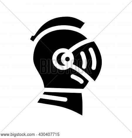 Knight Helmet Suit Armour Fairy Tale Glyph Icon Vector. Knight Helmet Suit Armour Fairy Tale Sign. I